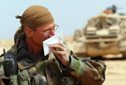 US infantryman smells perfume on letter