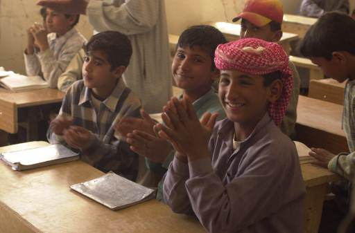 school reopens in Najaf